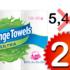 6 rouleaux d'essuie-tout Sponge Towels à 2,99$