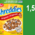Céréales Shreddies Post 550g à 1,50$