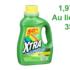 Détergent à lessive Xtra 50 brassées à 1,97$