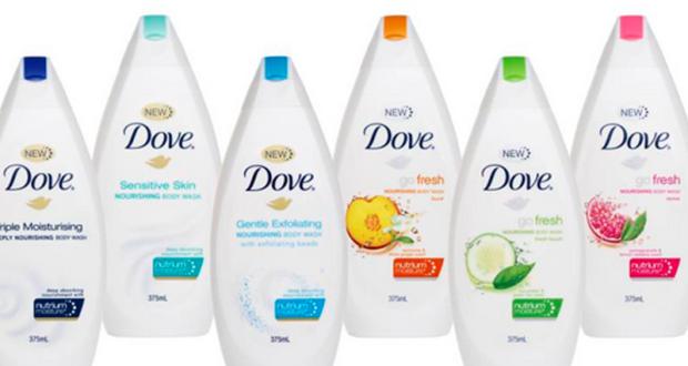 Gel nettoyant Dove à 1,49$