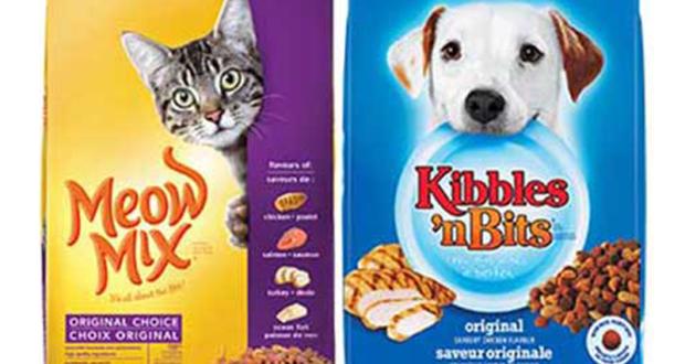 2$ de rabais sur 1 Meow Mix sec pour chat 1,36 kg+