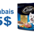 5$ de rabais sur un sac de nourriture sèche pour petits chiens CESAR