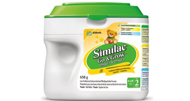 Coupon de 5$ sur un produit Similac Go & Grow Oméga-3