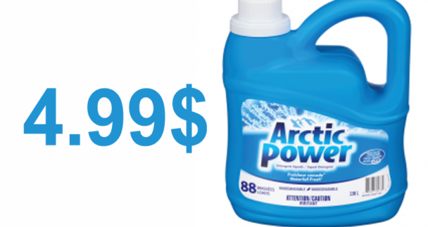 Détergent à lessive Arctic Power 88 brassées à 4.99$