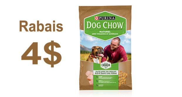 4 de rabais sur un produit dog chow naturel au choix coupons rabais qu bec. Black Bedroom Furniture Sets. Home Design Ideas