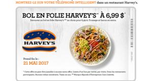 Coupon rabais Harvey's