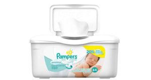 Boîte de lingettes pour bébés Pampers Gratuite