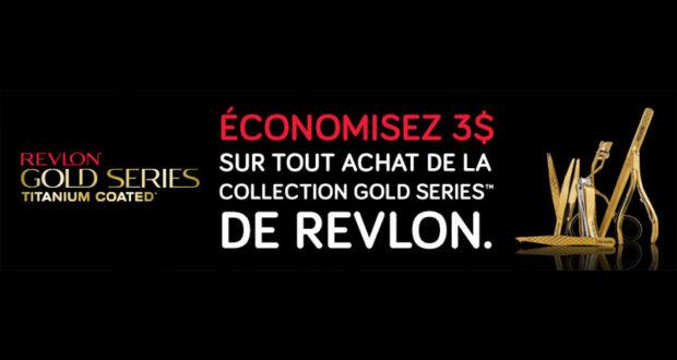 Coupon de 3$ sur la collection Gold Series de Revlon
