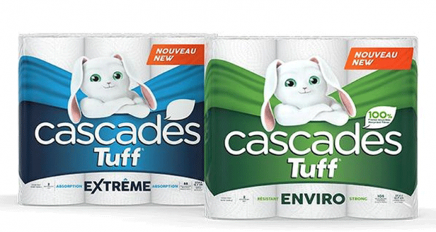 6 rouleaux Jumbo de papier essuie-tout Cascades Tuff à 2,97$