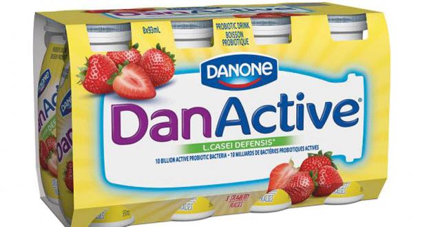 Emballage de 8 yogourts à boire DanActive à 2,48$