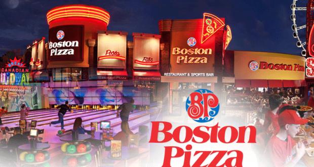 Repas gratuit pour enfant chez Boston Pizza