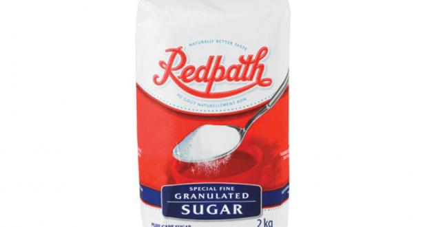 Emballage de 2kg de sucre blanc granulé Redpath à 1.44$