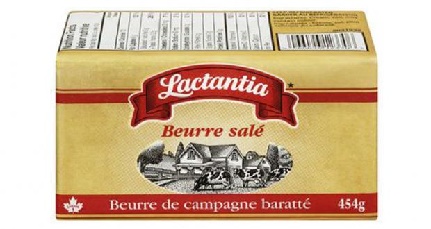 Beurre salé Lactantia à 2,98$