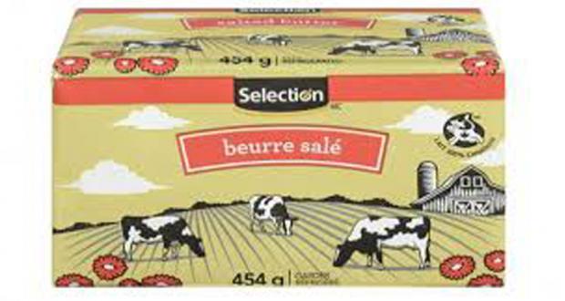 Beurre salé Selection 454g à 2,99$