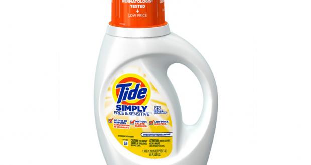 Détergent à lessive Tide simply + Oxy à 1,49$