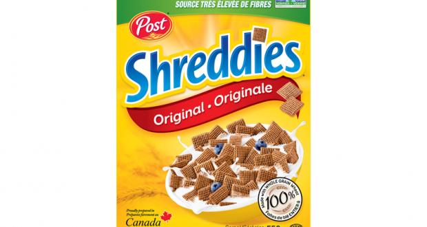 Céréales Shreddies à 1,24$