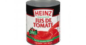 Jus de tomate Heinz 540mL à 50¢