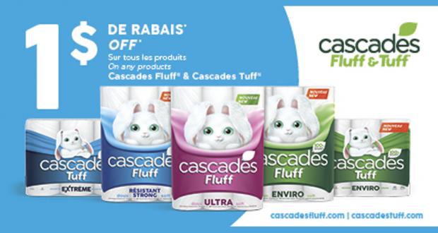 Emballage de 12 rouleaux Cascades Fluff à 2.99$