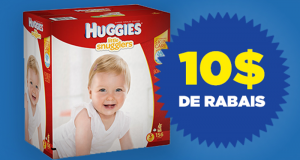 Coupon de 10 sur un emballage Huggies
