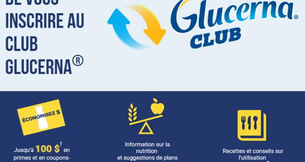 Recevez gratuitement 100$ en Coupons Glucerna