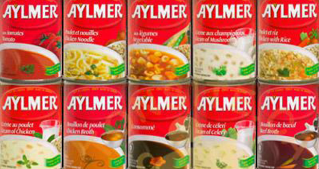 Soupe Aylmer à 33¢ seulement