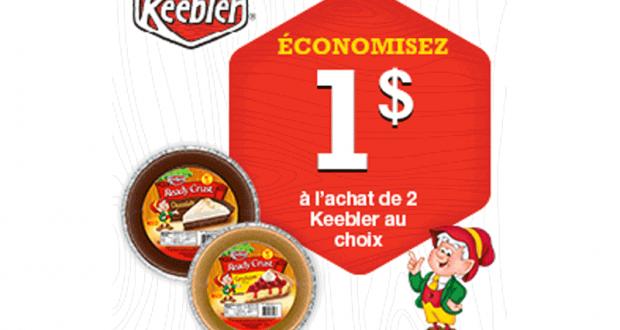 Coupon de 1$ sur les produits Keebler