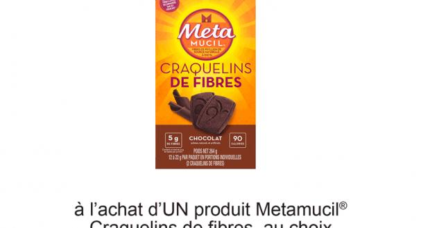 Coupon de 2$ à l'achat d'un produit Metamucil Craquelins de fibres