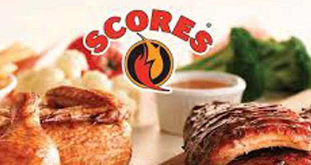 Rabais de 5$ à l'achat de 25$ et plus au restaurant Scores