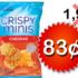 Croustilles de riz Crispy Minis à 83¢