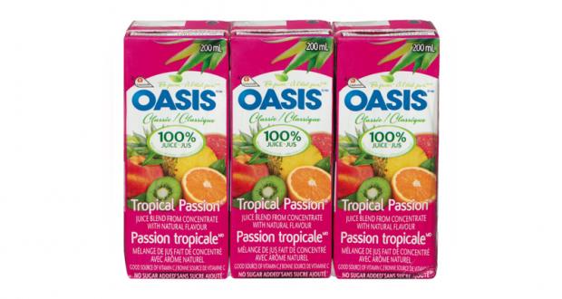 Jus Oasis à 88¢