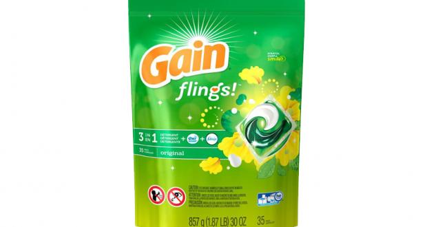 Détergent à lessive Gain Flings à 1,98$