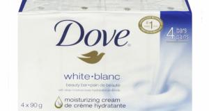 Coupon de 1$ sur un emballage de 4 pains de savon Dove