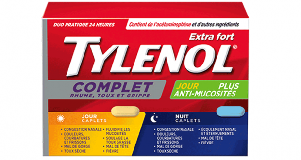 Coupon de 2$ sur un produit TYLENOL Rhume toux et grippe