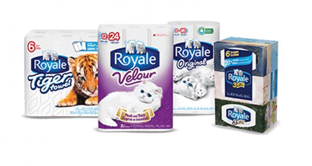 8 rouleaux doubles de papier hygiénique Royale Velour à 2.29$