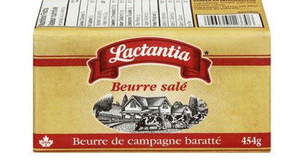 Beurre salé Lactantia à 3.33$