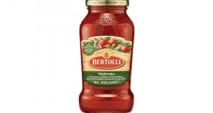 Coupon de 0.75 $ à l'achat de toute sauce pour pâtes Bertolli